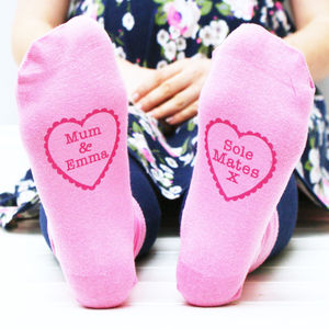 Personalised Women's 'Sole Mate' Socks - socks & tights