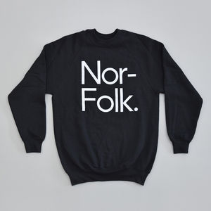 'Norfolk' Adult Black Sweatshirt - jumpers