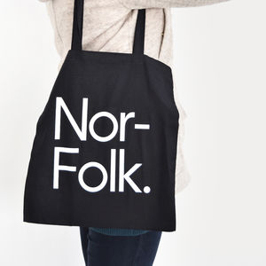 'Norfolk' Tote Bag Black