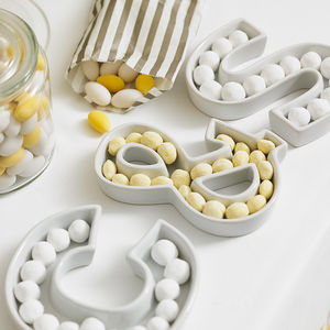 Ceramic Letter Dish - wedding gifts
