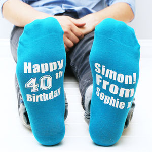 Personalised Men's Special Birthday Socks