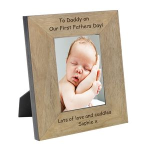 1st Father's Day Personalised Photo Frame - picture frames