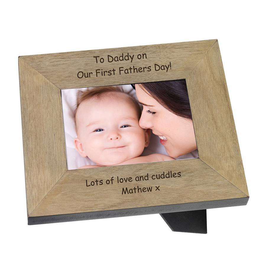 first fathers day message frame by babyfish notonthehighstreetcom