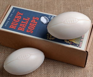 Set Of Two Rugby Ball Soaps - gifts by interest