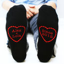 Personalised Men's Heart Socks