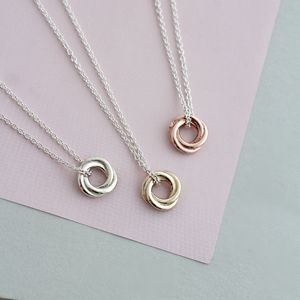 Petite 9ct Gold Russian Ring Necklace - fine jewellery