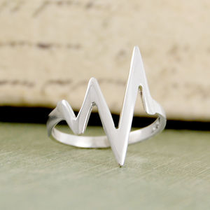 'Heart Beat' Sterling Silver Statement Ring