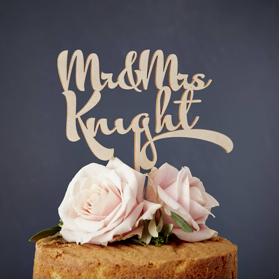 wedding cake toppers personalised personalised calligraphy wooden wedding cake topper by 8837