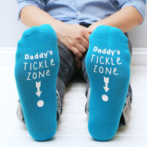 Personalised Men's Tickle Zone Socks - gifts for fathers
