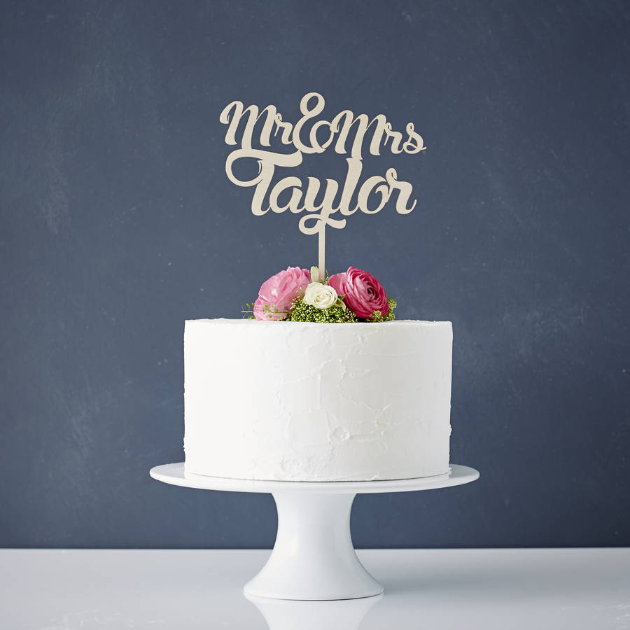 Wedding Cake Topper Personalised Wooden By Sophia Victoria