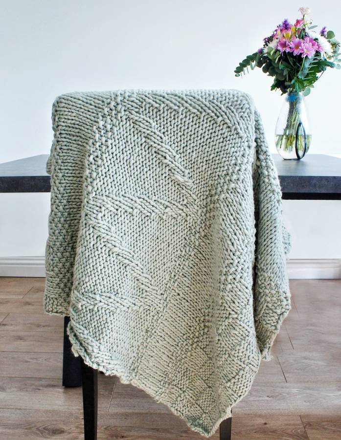 Knitting Kits For Throws : Classic merino soft throw knitting kit by stitch story