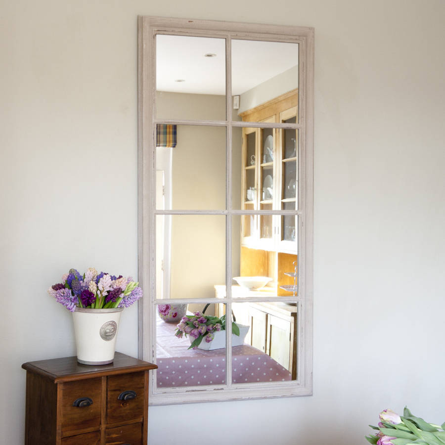 Eight Pane Window Mirror