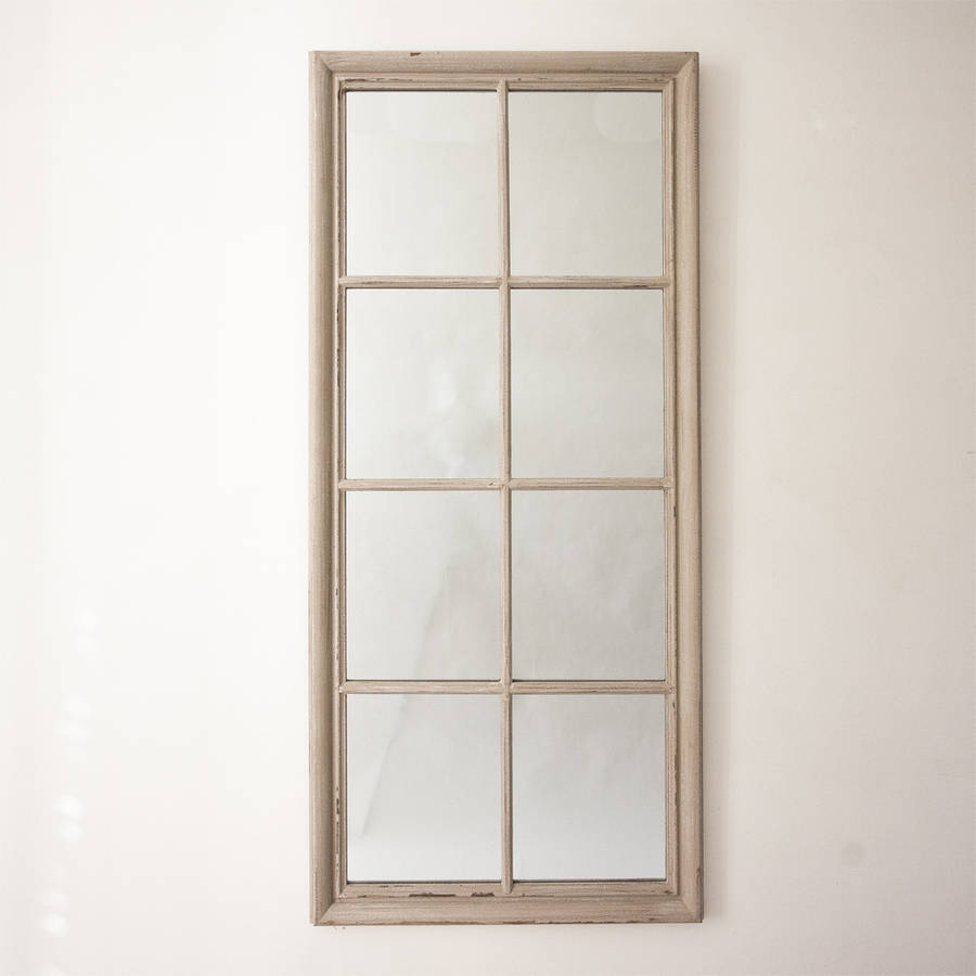 Eight pane window mirror by decorative mirrors online Window pane mirror
