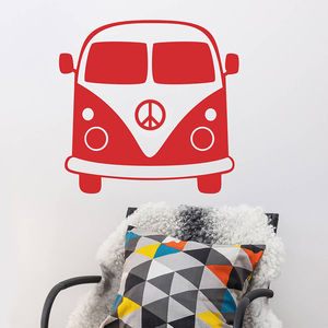 1960'S Splitty Camper Van Vinyl Wall Sticker - decorative accessories