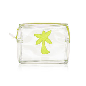 Palm Tree Wash Bag In Yellow