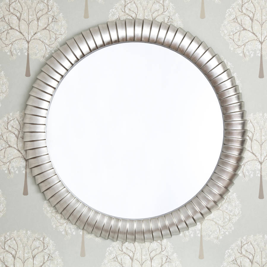 Sale save 40 emile round silver mirror by decorative for Silver framed mirrors on sale