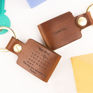 Personalised Never Forget Leather Keyring