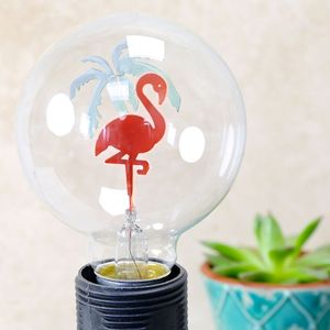 Flamingo Globe Light Bulb