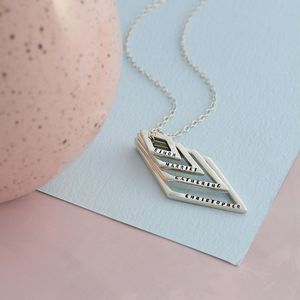 Personalised Deluxe Geometric Necklace - necklaces & pendants