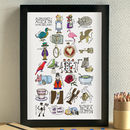 Alice In Wonderland Alphabet Print
