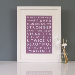 Always Remember Print - typography