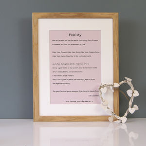 Personalised Marriage Poem Print - posters & prints