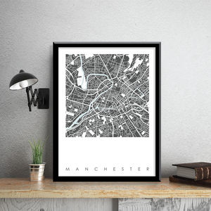 Manchester Map Art Limited Edition Prints - maps & locations