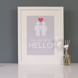 You Had Me At Hello Personalised Print - home accessories
