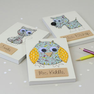 Personalised Teacher's Embroidered Notepad - gifts for teachers