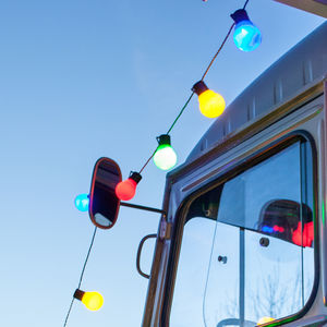 30 Multi Coloured Festoon Lights