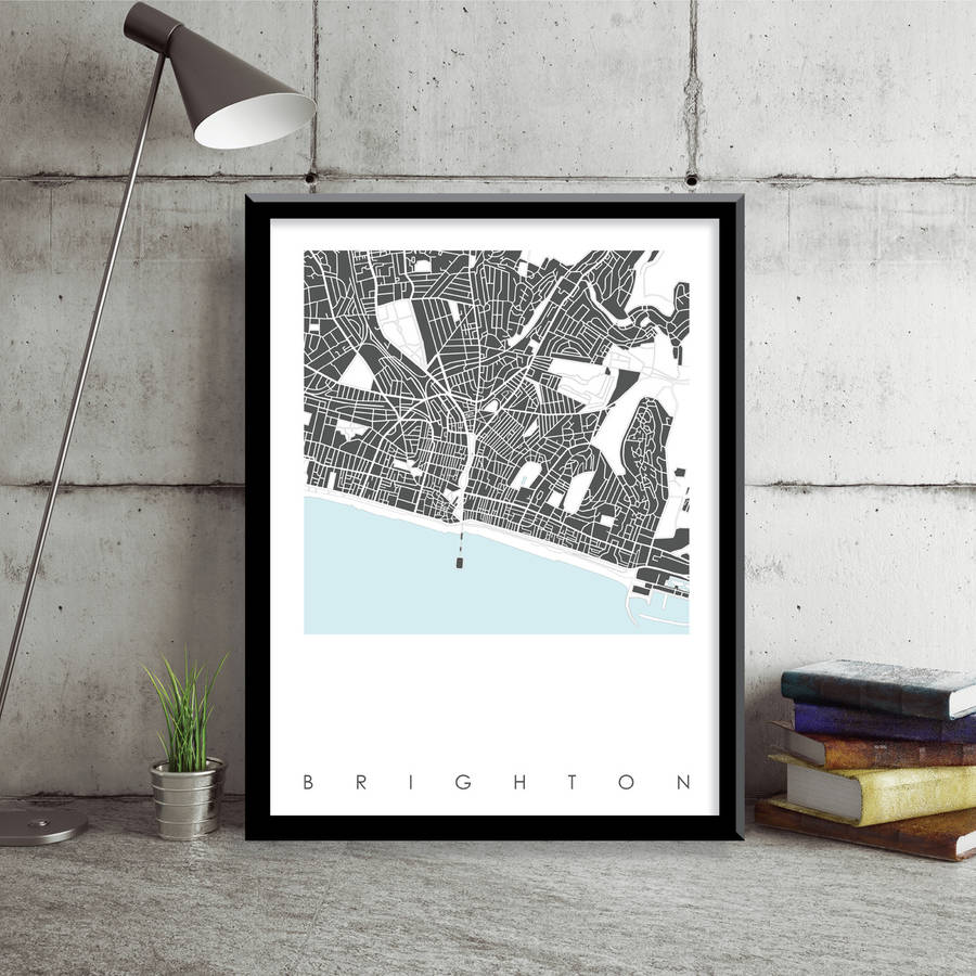 Brighton Map Art Print Limited Edition brighton