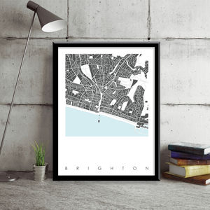 Brighton Map Art Limited Edition Prints