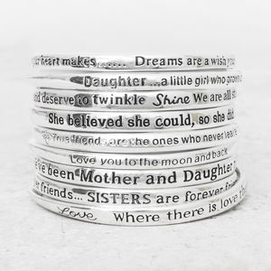 Create Your Own Message Bangle Set - stocking fillers under £15