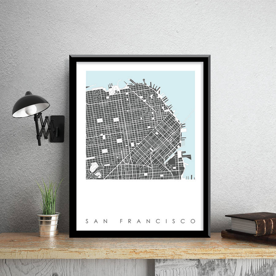 San Francisco Map Art Print Limited Edition