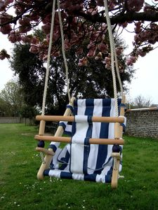 Wooden Nautical Baby Swing - garden furniture