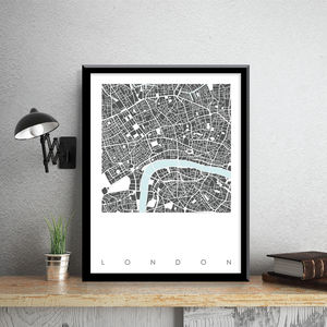 London Map Art Limited Edition Prints - maps & locations