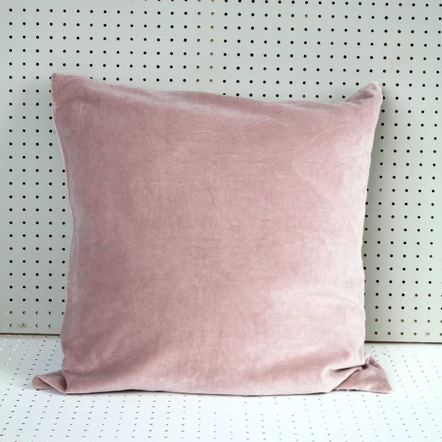 Pink Velvet Cushion By Posh Totty Designs Interiors