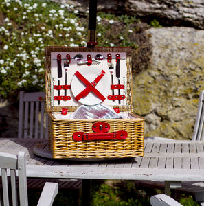 Colorful Picnic Hamper - boxes, trunks & crates