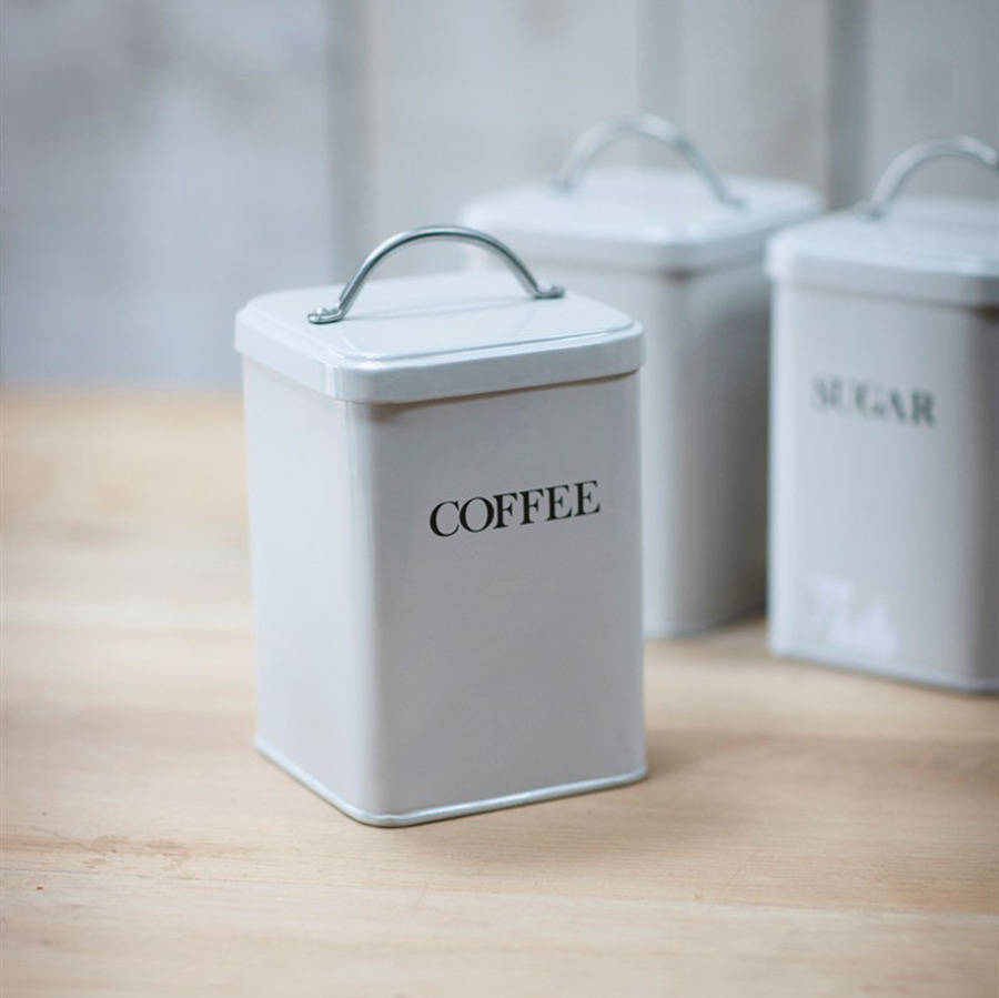 Coffee canister by all things brighton beautiful - Coffee tea and sugar canisters ...