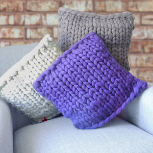 Barnstaple Chunky Knitted Panel Cushion