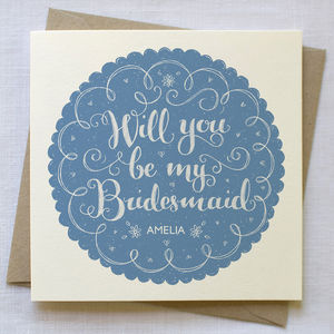 Personalised Bridesmaids Card