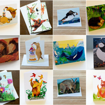 A Dozen Illustrated Notecards