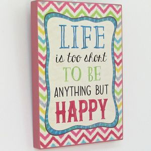 'Be Happy' Wooden Picture
