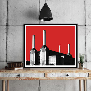 Battersea Power Station Limited Edition Prints - graphic art prints