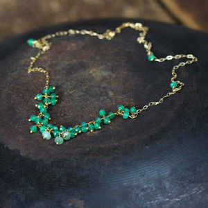 Emerald And Onyx Necklace - necklaces & pendants
