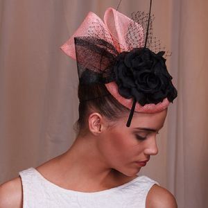 Sinamay With Silk Flower Hat - head pieces
