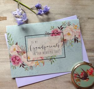 To My Grandparents On Our Wedding Day Card