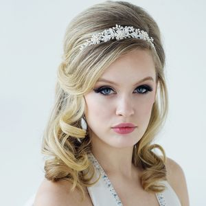 Bethany Freshwater Pearl And Crystal Tiara - tiaras & hair combs