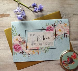 To My Father On Our Wedding Day - wedding cards