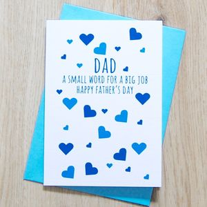 Dad A Small Word For A Big Job Card - view all sale items